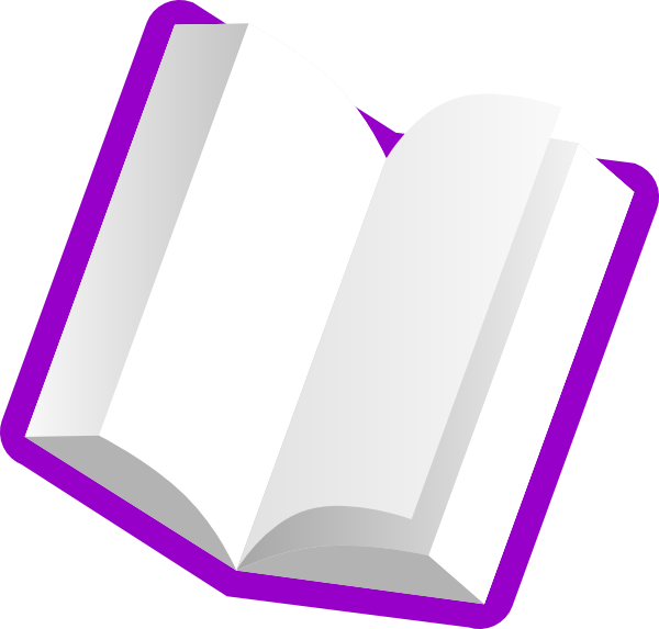 the color purple book how many pages - purple book light pages clip art at vector