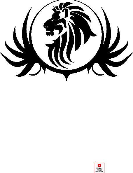 Black Lion Crest Clip Art At Clker Com Vector Clip Art