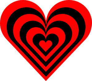 Red.black.heart Clip Art