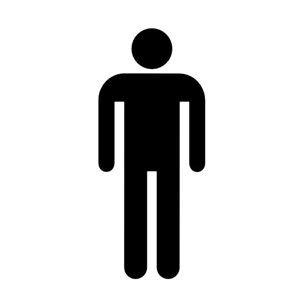 male bathroom bw wo boarder clip art at clkercom