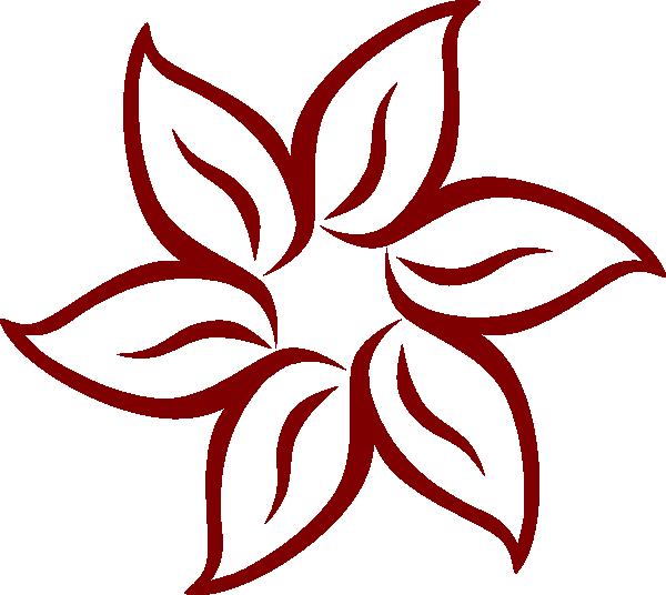 Maroon Flower Clip Art at Clker.com - vector clip art ...