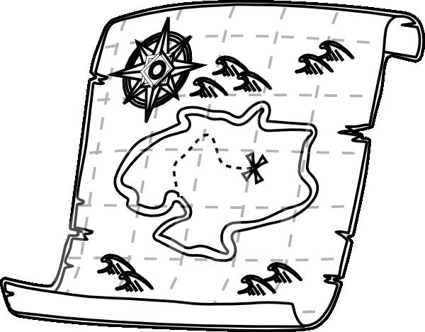 Treasure Map Outline Clip Art at Clker.com - vector clip ...