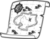 Treasure Map Outline Clip Art