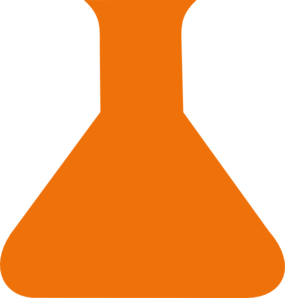 Orange Science Flask Clip Art