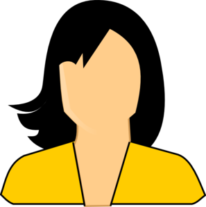 Dark Yellow Woman Clip Art