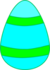 Light Blue And Light Green Egg Clip Art