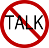 No Talk Clip Art
