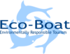 Eco Boat Dolphins Clip Art