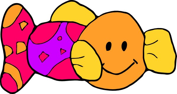 Toy fish clip art at vector clip art online for P o fish