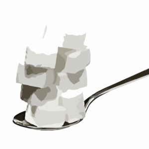 Sugar On Spoon Doctored Clip Art