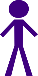 Male Purple Stick Figure Clip Art