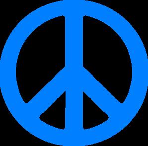 blue peace sign clip art at clker com vector clip art online rh clker com finger peace sign clip art peace sign clipart black and white