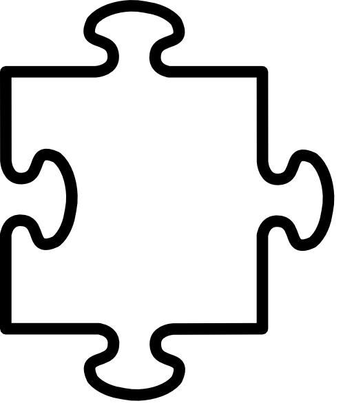 puzzle piece outline coloring pages - photo#1