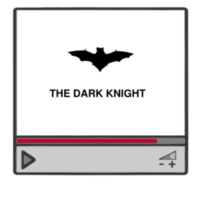 The Dark Knight Video Player Icon Clip Art