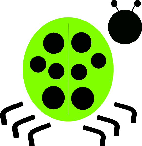 green ladybug clipart - photo #8