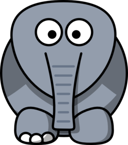Crippled Elephant Clip Art