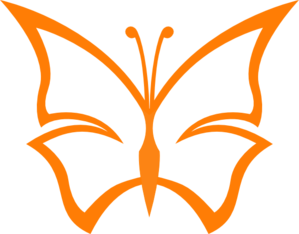 Burnt Orange Butterfly Clip Art