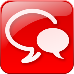 Red Chat Icon Glossy Clip Art