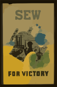 Sew For Victory  / Pistchal. Clip Art