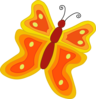 Orange Butterfly Clip Art