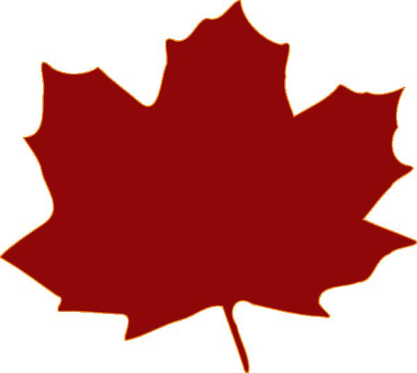 Burgandy Leaf Clip Art...