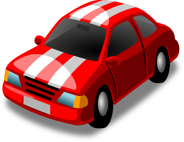 Red Car With White Stripes Clip Art at Clker.com - vector ...