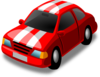 Red Car With White Stripes Clip Art