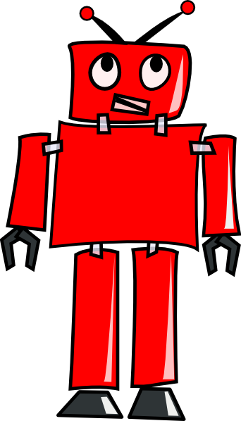Red Robot Clip Art at Clker.com - vector clip art online, royalty free ...