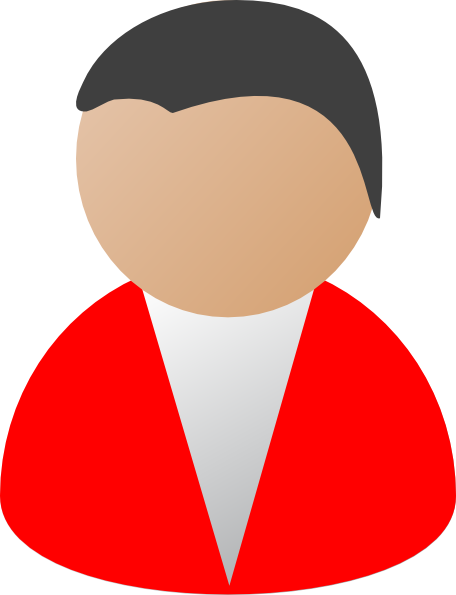 business person red clip art at clker com vector clip art online rh clker com clip art person dancing clipart person at computer