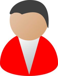Business Person Red Clip Art