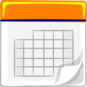 Orange Calendar Img Clip Art