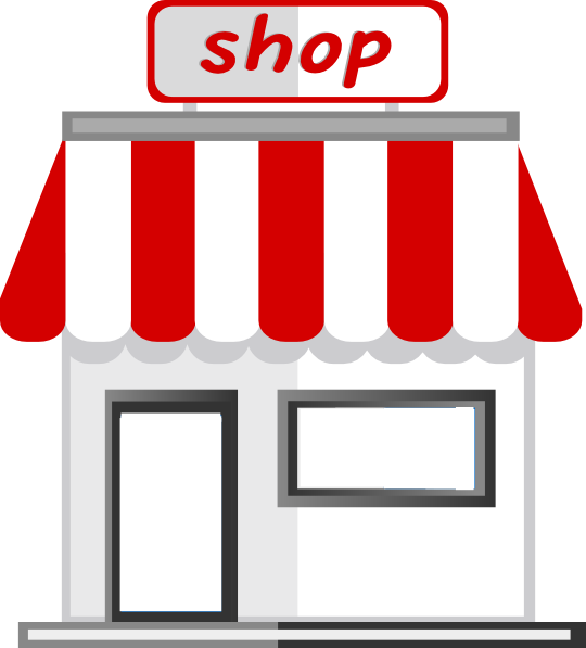 Store front clip art at vector clip art online for Online art stores us