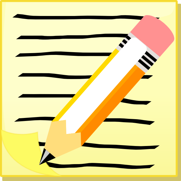 Pen And Notepaper Clip Art at Clker.com - vector clip art online ...