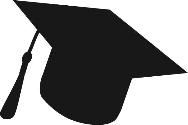 graduation hat silhouette black clip art at clker com vector clip rh clker com graduation hat clip art to download graduation hat clipart transparent