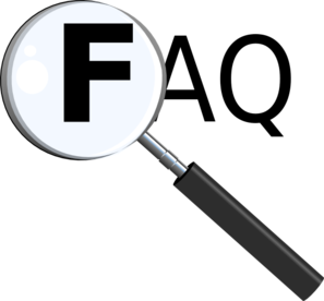 Faq With Magnifying Glass Clip Art