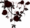 Negative Black Rose Clip Art