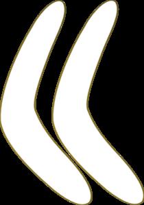Boomerang clip art at vector clip art online for Australian boomerang template