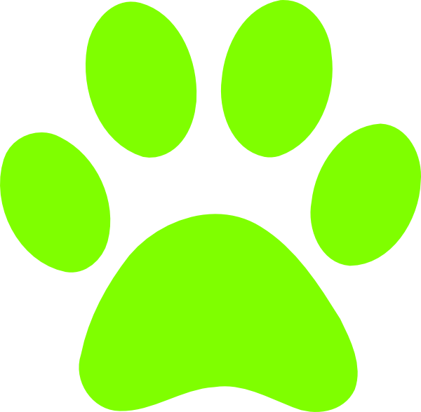 Go Back > Gallery For > Green Paw Print Clip Art