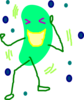Green Jelly Bean Laugh Clip Art