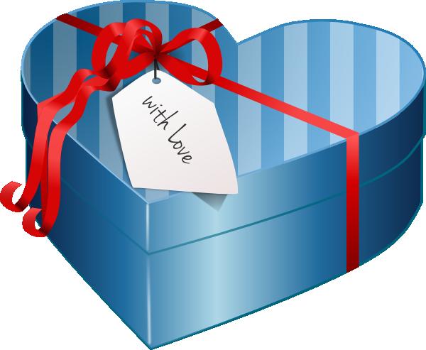 Valentine Heart Gift Box Clip Art At Clker Com Vector Clip Art