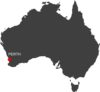 Australia Perth Location Map Clip Art