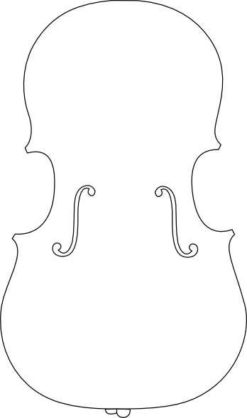 cello outline clip art at clker com