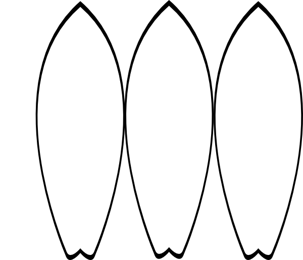 3 White Surfboards Clip Art At Clker Com Vector Clip Art Surfboard Coloring Page