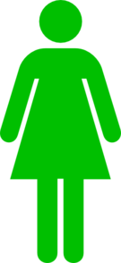 Women Toilet Symbol Green Clip Art
