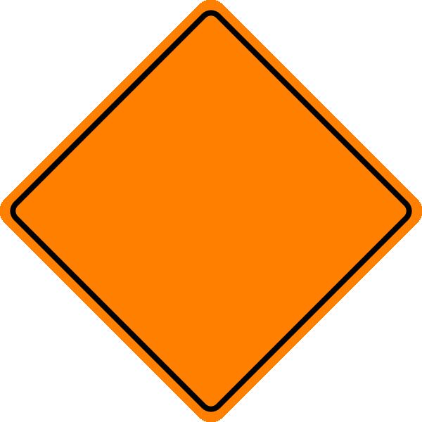Construction Sign Clipart Orange Construc...