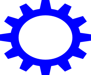 Blue Small Cog Wheel Clip Art