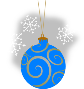 Aqua Decorative Ornament Clip Art