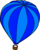 Hot Air Balloon Blue Clip Art