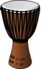 Clear African Drum Clip Art