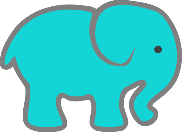 turquoise elephant clip art at clker com vector clip art online rh clker com clip art elephants for baby shower clip art elephant images